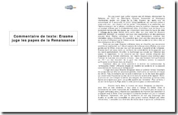 Erasme juge les papes de la Renaissance dans un extrait de L'Eloge de la Folie
