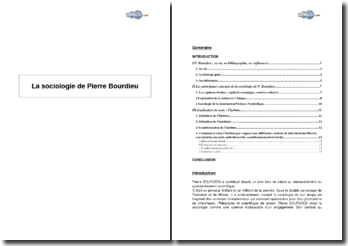 Extrait de La sociologie de Bourdieu, Pierre Bourdieu - la notion d'habitus