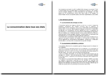 La consommation dans tous ses états : définition et significations de la consommation