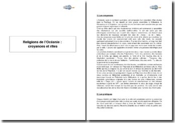 Religions de l'Océanie : croyances et rites