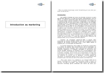 Introduction au marketing, rôle et outils