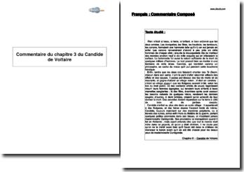 Chapitre 3 du Candide de Voltaire