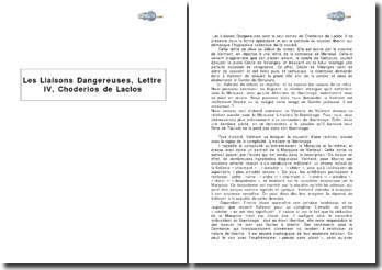 Lettre IV, Les Liaisons Dangereuses, de Choderlos de Laclos