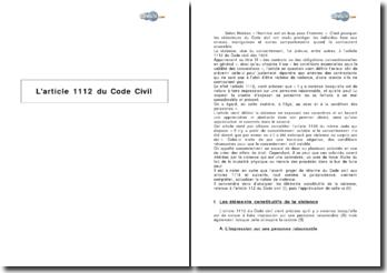 L'article 1112 du Code Civil - la violence comme vice du consentement