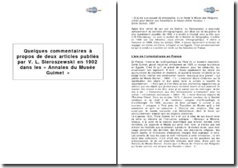 Articles publiés par Vaclav Sieroszewski en 1902 dans les Annales du Musée Guimet sur les Iakoutes