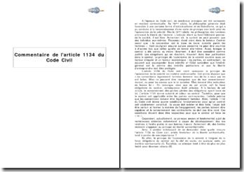 Article 1134 du Code Civil : l'autonomie de la volonté dans la formation des contrats