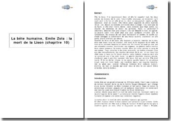 La Bête humaine, Emile Zola : la mort de la Lison (chapitre 10)