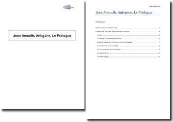 Jean Anouilh, Antigone, Le Prologue
