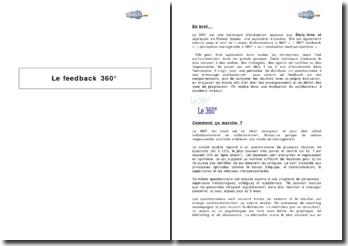 Le feedback 360 : technique d'évaluation à plusieurs niveaux