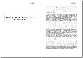 Article 1844-1 du Code civil : les bases du contrat de société