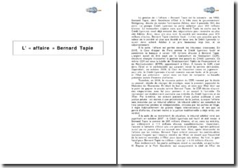 L' « affaire » Bernard Tapie