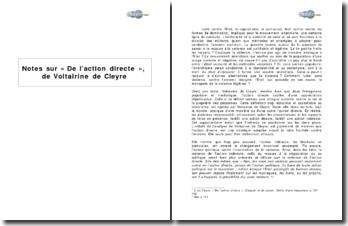 Notes sur « De l'action directe », de Voltairine de Cleyre