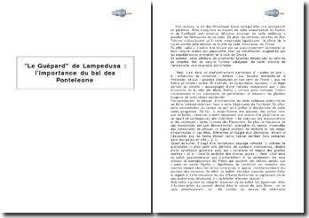 Le Guépard de Lampedusa : l'importance du bal des Ponteleone