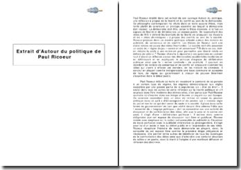 Extrait d'Autour du politique de Paul Ricoeur