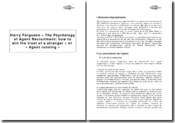Harry Ferguson : La psychologie d'un agent de recrutement : comment gagner la confiance d'un inconnu et la course à l'agent
