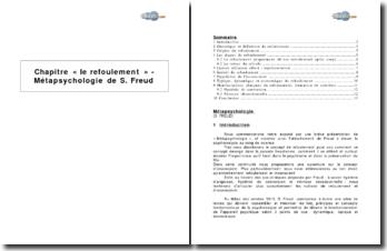 Chapitre « Le refoulement » dans Métapsychologie de S. Freud