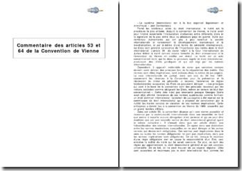 Commentaire des articles 53 et 64 de la Convention de Vienne : la norme à caractère impératif
