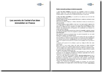Les secrets de l'achat d'un bien immobilier en France