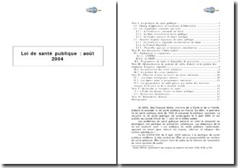 Loi de santé publique, août 2004