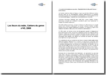 Les fleurs du mâle, Cahiers du genre n 45, 2008