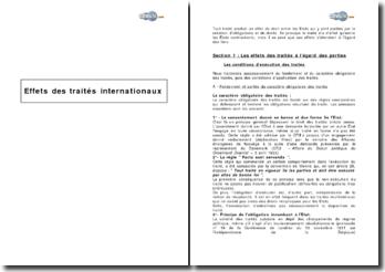 Effets des traités internationaux
