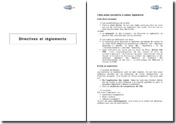 Directives et règlements