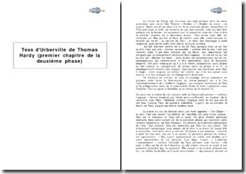 Tess d'Urberville de Thomas Hardy : premier chapitre de la deuxième phase