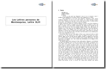 Les Lettres persanes de Montesquieu, Lettre XLVI