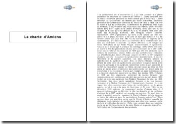 La charte d'Amiens : objectifs et moyens d'actions de la Confédération Générale du Travail (1906)