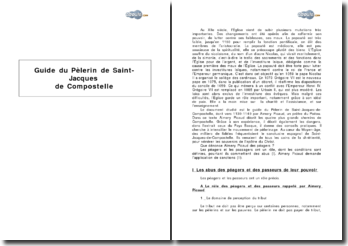 Guide du pèlerin de Saint-Jacques-de-Compostelle au XIIe siècle