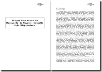 Extrait de Marguerite de Navarre, Nouvelle 5 de l'Heptaméron