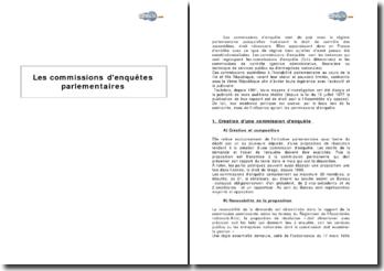 Les commissions d'enquête parlementaires