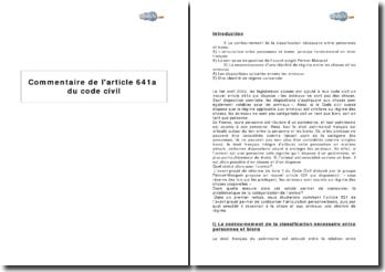 Article 641a du Code civil suisse : le statut de l'animal