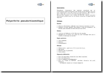 Polyarthrite pseudorhizomélique