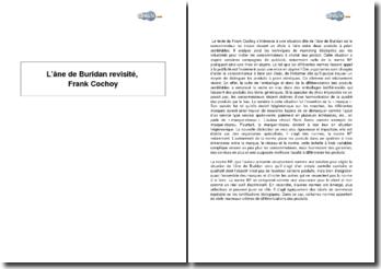 L'âne de Buridan revisité, Frank Cochoy