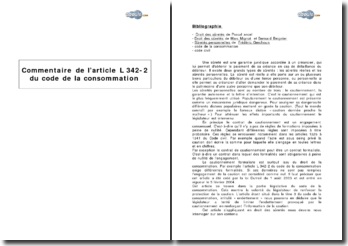 Article L 342-2 du Code de la consommation - le contrat de cautionnement formaliste