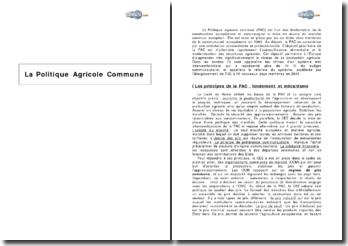 La Politique Agricole Commune (2009)