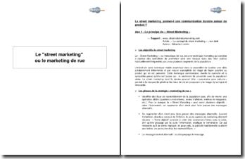 Le street marketing ou le marketing de rue