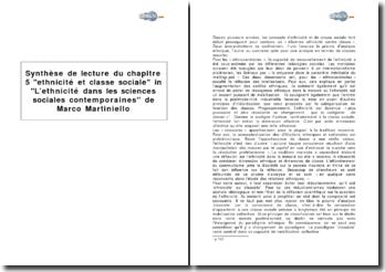 Chapitre 5 ethnicité et classe sociale in l'ethnicité dans les sciences sociales contemporaines de Marco Martiniello