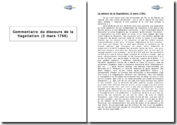 Le discours de la flagellation (3 mars 1766) - la réaffirmation par Louis XV de la monarchie absolue face à une contestation croissante