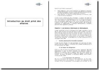 Introduction au droit commercial