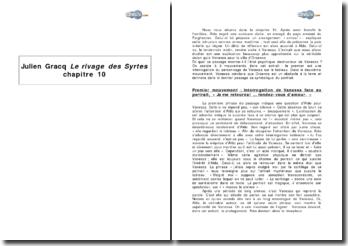Julien Gracq, Le rivage des syrtes, chapitre 10