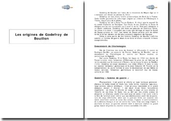 Les origines de Godefroy de Bouillon