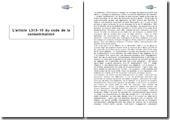 L'article L313-10 du code de la consommation - le cautionnement disproportionné