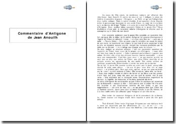 Antigone de Jean Anouilh - confrontation d'Antigone et Créon