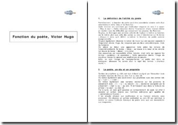Fonction du poète, Victor Hugo