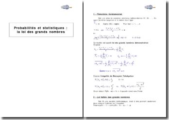 Probabilités et statistiques : la loi des grands nombres