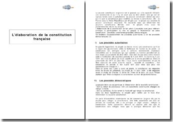 L'élaboration de la Constitution française