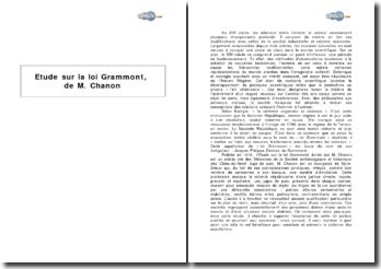 Etude sur la loi Grammont, de M. Chanon - la protection des animaux au XIXe siècle