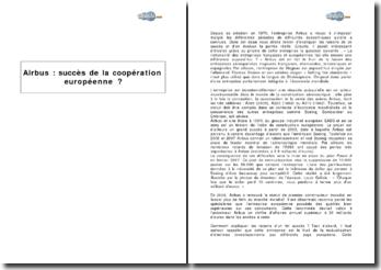 Airbus : succès de la coopération européenne ?